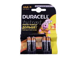Батарейка DURACELL Basic R3/AAA 1.5V LR3  блистер - 4шт. упаковка - 40шт.
