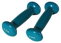 Гантели для фитнеса и аэробики, виниловые, нескользящие 0,5 кг