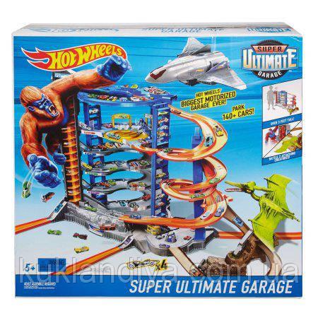 Трек Hot Wheels Супер Гараж Гігант Ультімейт з динозавром - Super Ultimate Garage