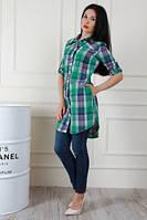 Рубашка туника  женская в клетку 44-48, доставка по Украине