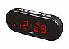Настольные часы с будильником от сети с красной подсветкой VST-715-1, фото 3