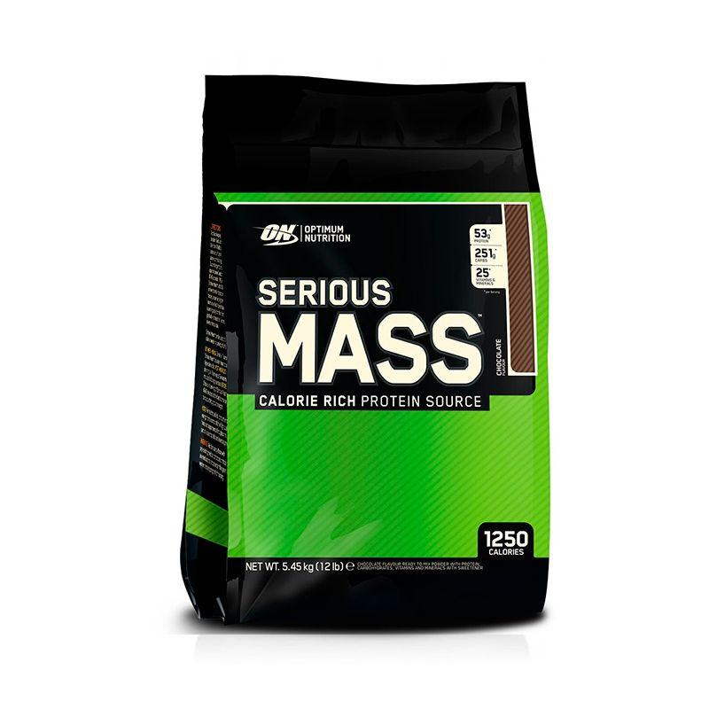 Гейнер Optimum Nutrition Serious Mass (5,4 кг) оптимум сириус масс strawberry Высококалорийный гейнер, vanilla, Optimum Nutrition, США, Пакет