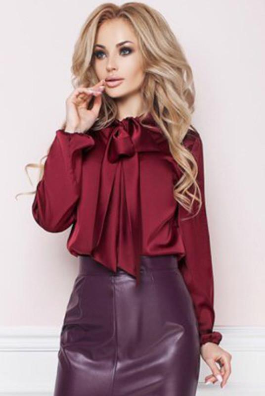 285e21c1240 Бордовая шелковая блузка -Эмилия- - LOOK BUY в Одессе