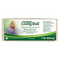 Пластика для кукол телесная светлая Light 454 грамма Living Doll Super Sculpey, ZSLD3, 50040003