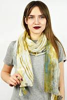 Интереный шарф оливковый