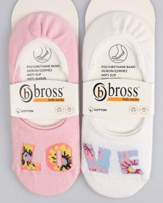 Р. 34-36 ( 9-11 лет ) невидимые носкочки для девочки Love