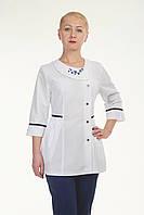 """Медицинский костюм женский с вышивкой """"Health Life"""" х/б 2295"""