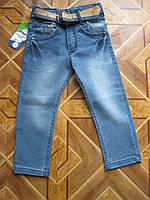 Детские классические стретчевые джинсы + ремень для мальчиков   2 -3  лет Турция, фото 1