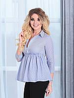 Блузка Беби-долл голубая полоска, фото 1