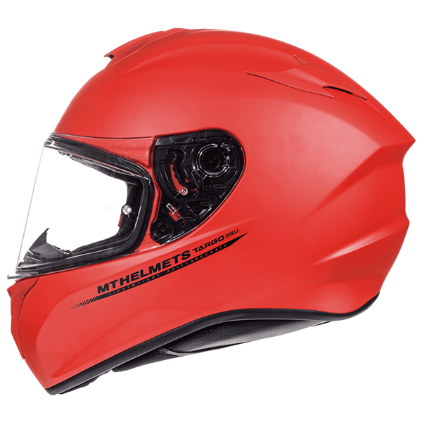 Мотошолом MT Targo Solid Matt Fluor Red