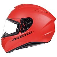 Мотошлем MT Targo Solid Matt Fluor Red, фото 1