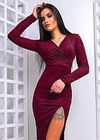 Элегантное платье с разрезом, разные цвета
