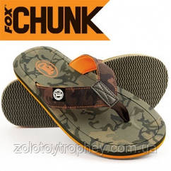 Тапочки Fox Chunk Camo flip flop