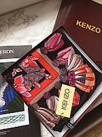 Платок Kenzo принт черный яркий весенний