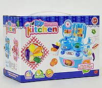 Детская кухня с посудой и продуктами, в коробке. Игровой набор для детей