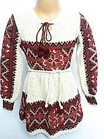 Платье-туника вишиванка детская-подросток вязаная р 116-134