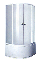 Душевая кабинка с поддоном Caribe H027-30, 900х900х2000 мм