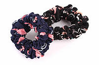 (Цена за 12шт) Резинка для волос Scaevola из ткани с узорами (4 цвета), резинка объемная, аксессуары для волос, аксессуары для создания причесок и