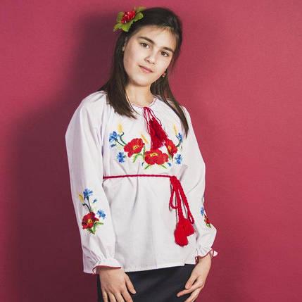 """Вышитая сорочка для девочек """"Колоски"""", фото 2"""