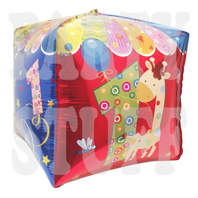 фольгированный шар кубик цифра 1