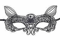 "(Цена за 12шт) Кружевная маска ""Butterfly"" для маскарада, черная, длина 20.5см, ширина 11см, Венецианская маска, Ажурная маска"