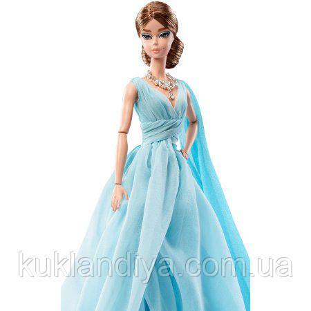 Колекційна лялька Барбі силкстоун в блакитній сукні