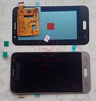 Дисплей модуль Samsung J120h Galaxy J1 (2016) в зборі з тачскріном, золотистий