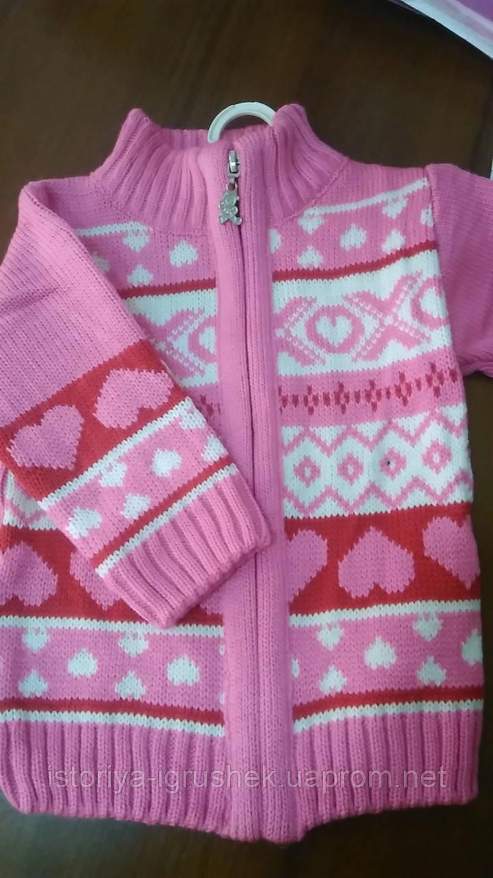 Кофта вязанная для девочки в ассортименте