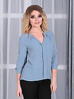 Блузка Лира в цвете джинс, фото 1