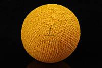 """Хлопковые шарики """"Vitex"""" для декора, солнечно-желтого цвета, диаметр 6.5см, хлопковая нить, Декор интерьера, Шарики для декора"""