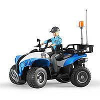 Полицейский квадроцикл + фигурка женщина-полисмен  Bruder (63010)