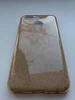 Силиконовая накладка Gliter для Huawei Nova 2 (Gold), фото 1