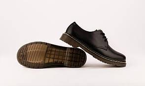Мужские кожаные полуботинки/туфли в стиле Dr. Martens Original Black 40-46 размер, фото 3