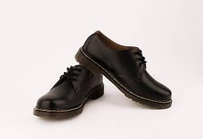 Мужские кожаные полуботинки/туфли в стиле Dr. Martens Original Black 40-46 размер, фото 2