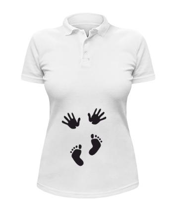 Женская футболка-поло Ручки и ножки, фото 2