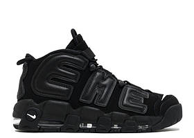 Кроссовки Nike Air More Uptempo 96 All Black Supreme