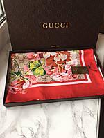 Платок шарфик gucci логотип весенний