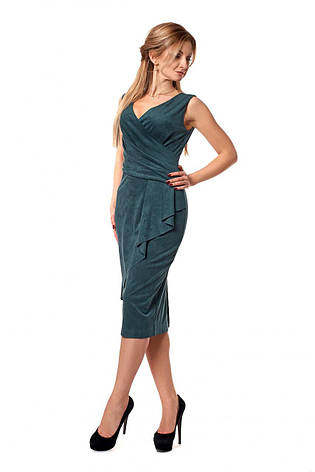 Лаконичное приталенное платье без рукавов, фото 2