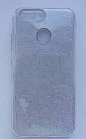 Силиконовая накладка Gliter для HUAWEI P8 Lite (2017) (Silver), фото 1