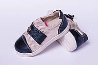 Туфли детские на липучке из натуральной кожи от производителя модель ТД -16