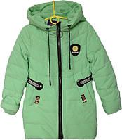 """Куртка подростковая демисезонная """"Minika"""" #1759 для девочек. 7-8-9-10-11 лет. Мята. Оптом., фото 1"""