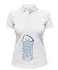Женская футболка-поло Тучка поливает росточек