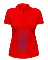 Женская футболка-поло Тучка поливает росточек, фото 3