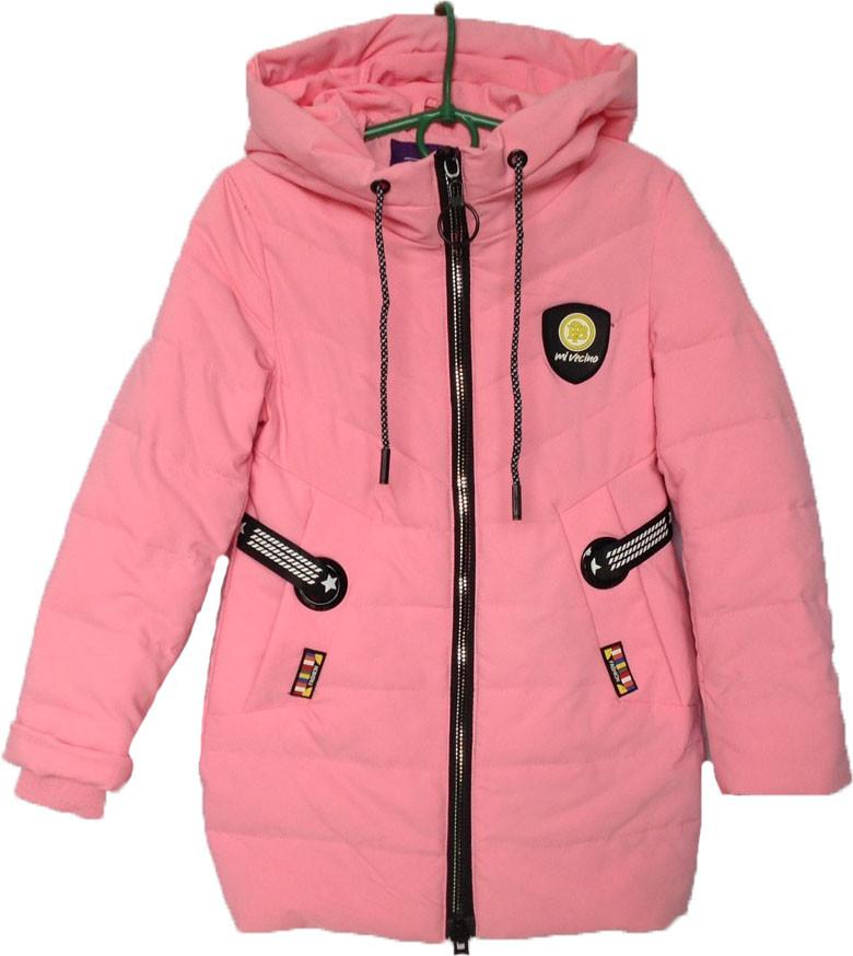 """Куртка подростковая демисезонная """"Minika"""" #1759 для девочек. 7-8-9-10-11 лет. Розовая. Оптом."""