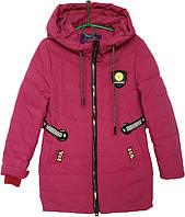"""Куртка подростковая демисезонная """"Minika"""" #1759 для девочек. 7-8-9-10-11 лет. Вишневая. Оптом., фото 1"""
