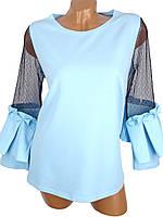 Молодежная блузка с рюшами (в расцветках)
