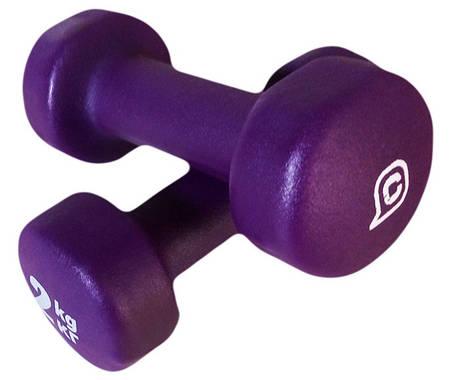 Гантели для фитнеса и аэробики, виниловые, нескользящие 2 кг, фото 2