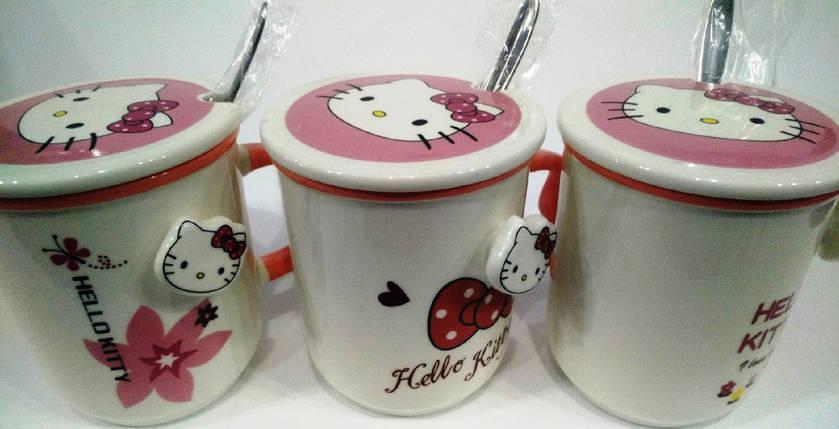 """Чашка с ложкой """"Hello Kitty"""" керамическая 300 мл , фото 2"""