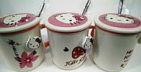 """Чашка с ложкой """"Hello Kitty"""" керамическая 300 мл"""