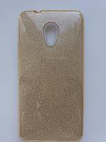 Силиконовая накладка Gliter для Huawei Y5 II /Honor Play 5 (Gold)